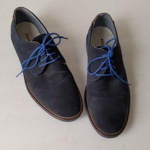 Brantano gray suede w blue sole lace-ups-sz 9